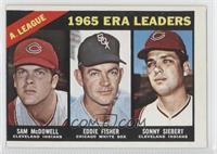 AL ERA Leaders (Sam McDowell, Eddie Fisher, Sonny Siebert)