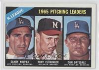 Sandy Koufax, Tony Cloninger, Don Drysdale