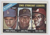 Sandy Koufax, Bob Veale, Bob Gibson [Poor]