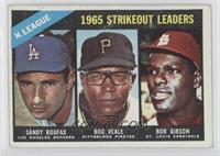 Sandy Koufax, Bob Veale, Bob Gibson [Good to VG‑EX]
