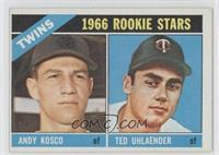 Twins Rookies (Andy Kosco, Ted Uhlaender)