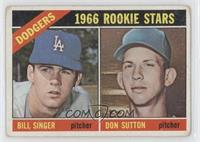 Dodgers Rookies (Bill Singer, Don Sutton) [Good to VG‑EX]