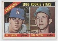 Dodgers Rookies (Bill Singer, Don Sutton) [GoodtoVG‑EX]