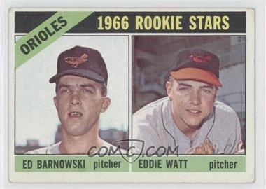 1966 Topps #442 - Orioles Rookie Stars (Ed Barnowski, Eddie Watt) [GoodtoVG‑EX]