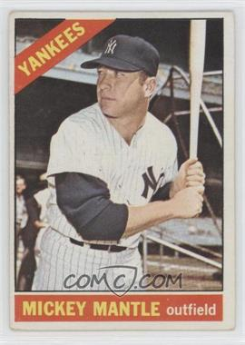 1966 Topps #50 - Mickey Mantle [Good to VG‑EX]