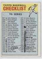 7th Series Checklist (529 Listed as W. Sox Rookies)