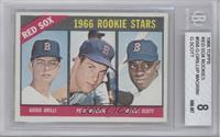 Red Sox Rookies (Guido Grilli, Pete Magrini, George Scott) [BGS 8]