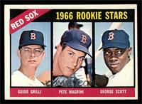 Red Sox Rookies (Guido Grilli, Pete Magrini, George Scott) [EX MT]