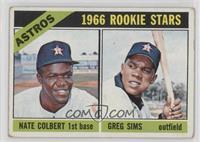 Astros Rookie Stars (Nate Colbert, Greg Sims) [GoodtoVG‑EX]