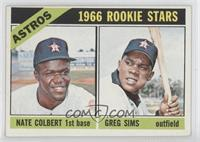 Astros Rookie Stars (Nate Colbert, Greg Sims)