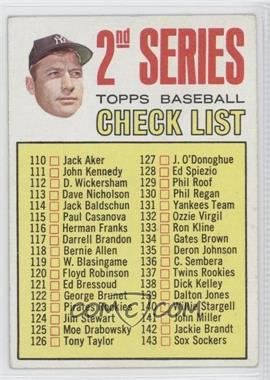 1967 Topps - [Base] #103.2 - 2nd Series Checklist (Mickey Mantle) (Period in #170 D. Mcauliffe streaked) [Good to VG‑EX]