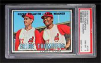Tribe Thumpers (Rocky Colavito, Leon Wagner) [PSA8]