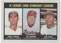 N. League Strikeout Leaders (Sandy Koufax, Jim Bunning, Bob Veale)