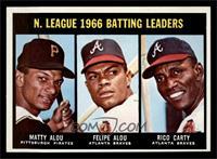 N. League Batting Leaders (Matty Alou, Felipe Alou, Rico Carty) [NM]