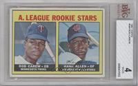 A. League Rookie Stars (Rod Carew, Hank Allen) [BVG 4]