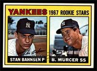 1967 Rookie Stars (Stan Bahnsen, Bobby Murcer) [NMMT]