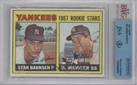 1967 Rookie Stars (Stan Bahnsen, Bobby Murcer) [BVG/JSACertifiedAut…