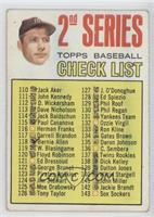 2nd Series Checklist (Mickey Mantle) (Period in #170 D. Mcauliffe well defined)