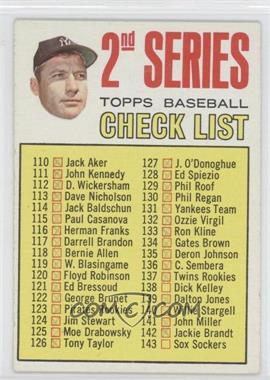 1967 Topps #103.2 - 2nd Series Checklist (Mickey Mantle) (Period in #170 D. Mcauliffe streaked)