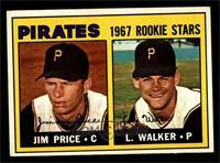 Pirates 1967 Rookie Stars (Jim Price, Luke Walker) [EXMT]