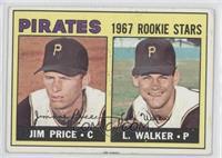 Pirates 1967 Rookie Stars (Jim Price, Luke Walker) [GoodtoVG‑…