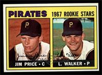 Pirates 1967 Rookie Stars (Jim Price, Luke Walker) [NM]