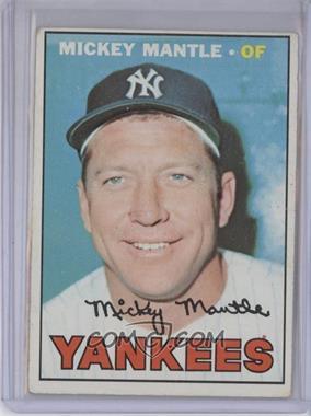 1967 Topps #150 - Mickey Mantle [GoodtoVG‑EX]