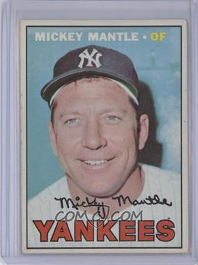 1967 Topps #150 - Mickey Mantle [Altered]