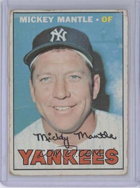 1967 Topps #150 - Mickey Mantle [Poor to Fair]