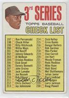 3rd Series Checklist (Willie Mays) (Error: 214 is Dick Kelley) [Good to&nb…