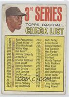3rd Series Checklist (Willie Mays) (214 is Tom Kelley)
