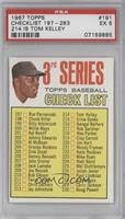 3rd Series Checklist (Willie Mays) (214 is Tom Kelley) [PSA 5]