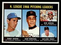 N. League Pitching Leaders (Sandy Koufax, Juan Marichal, Bob Gibson, Gaylord Pe…