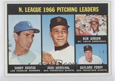 1967 Topps #236 - N. League Pitching Leaders (Sandy Koufax, Juan Marichal, Bob Gibson, Gaylord Perry)