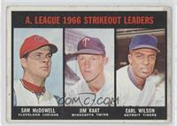Sam McDowell, Jim Kaat, Earl Wilson [Good to VG‑EX]