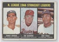 N. League Strikeout Leaders (Sandy Koufax, Jim Bunning, Bob Veale) [Good t…