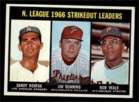 N. League Strikeout Leaders (Sandy Koufax, Jim Bunning, Bob Veale) [NM MT]
