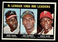 N. League RBI Leaders (Hank Aaron, Roberto Clemente, Richie Allen) [NM]