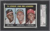 N. League RBI Leaders (Hank Aaron, Roberto Clemente, Richie Allen) [SGC 80]