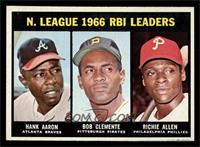 N. League RBI Leaders (Hank Aaron, Roberto Clemente, Richie Allen) [EX MT]