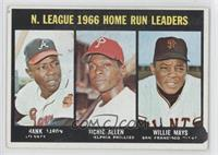 Hank Aaron, Dick Allen, Willie Mays [Good to VG‑EX]