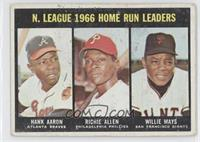 N. Leauge Home Run Leaders (Hank Aaron, Dick Allen, Willie Mays)