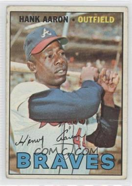 1967 Topps #250 - Hank Aaron [Good to VG‑EX]