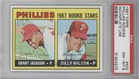 Grant Jackson, Bill Wilson (Complete Line under Stats on Back) [PSA8]