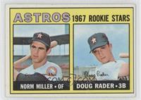 Astros Rookie Stars (Norm Miller, Doug Rader)