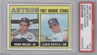Astros Rookie Stars (Norm Miller, Doug Rader) [PSA7]