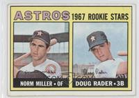 Astros Rookie Stars (Norm Miller, Doug Rader) [Good to VG‑EX]