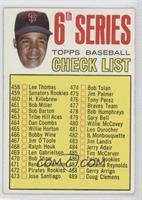 6th Series Checklist, Juan Marichal