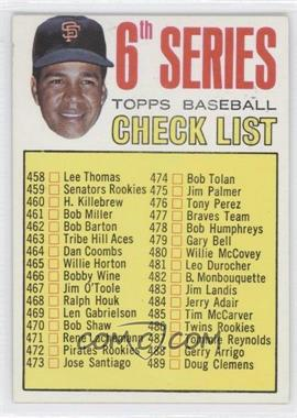 1967 Topps #454 - Checklist