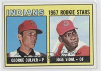 Indians Rookie Stars (George Culver, Jose Vidal) [Good to VG‑EX]